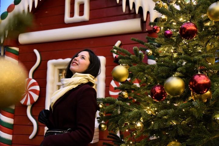 Новогоднее настроение в Москве. На фото Карина Левицкая/ Фото: Пелагия Замятина, «Вечерняя Москва»