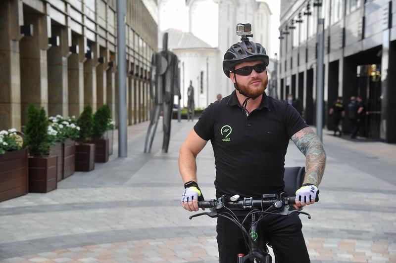 Велопатруль начал работу на улицах столицы