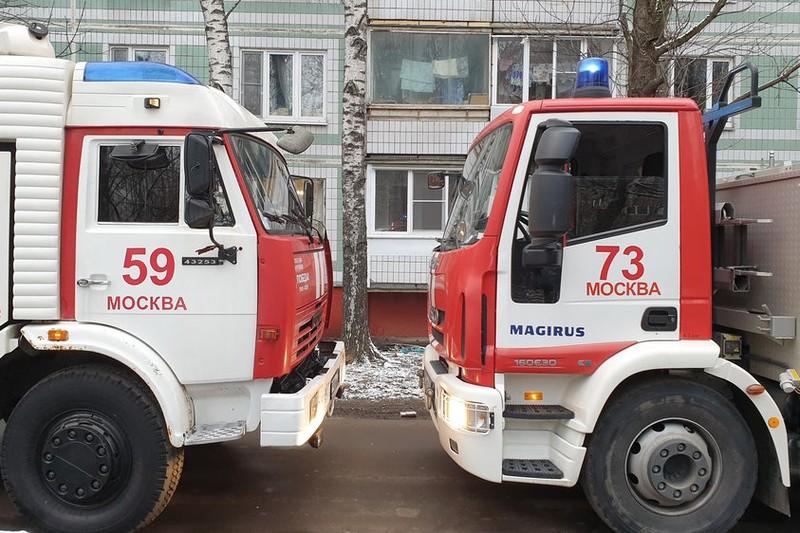 Пожар в квартире произошел на западе Москвы