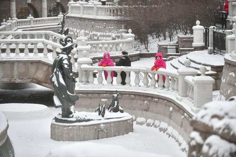Снежный покров в Москве за ночь увечился до десяти сантиметров
