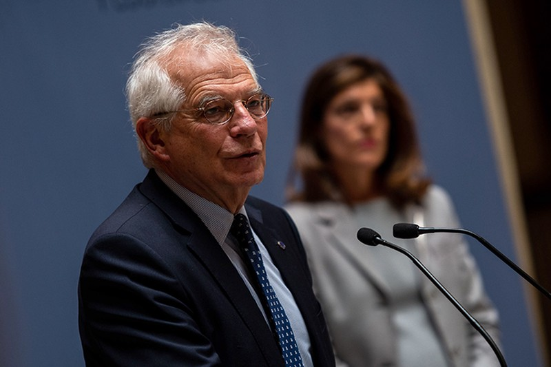 Госсекретарь США и глава дипломатии ЕС выразили обеспокоенность ситуацией на границе России и Украины