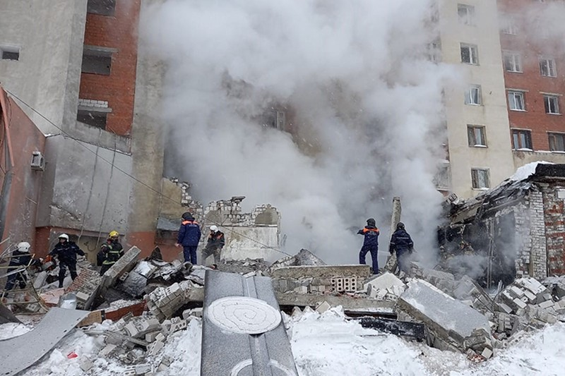 Появилось видео с места взрыва газа в Нижнем Новгороде