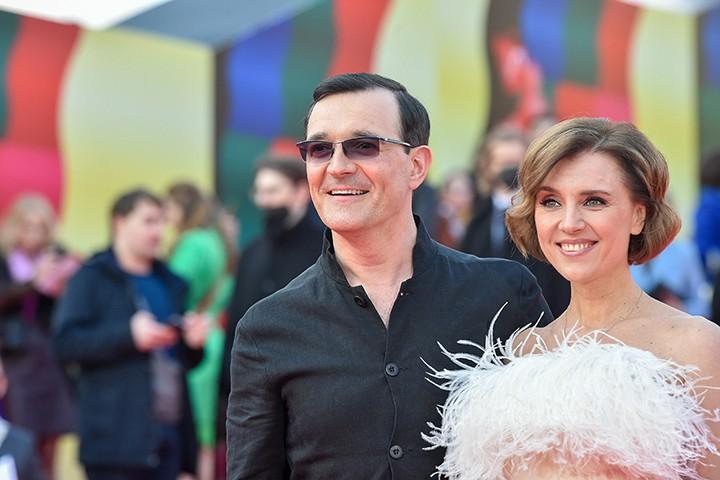 Актеры Егор Бероев и Ксения Алферова / Фото: Денис Гришкин /АГН Москва
