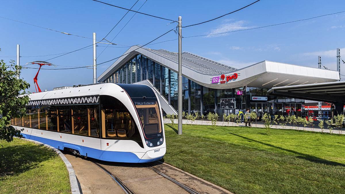 Движение трамвая № 6 задерживается на северо-западе Москвы