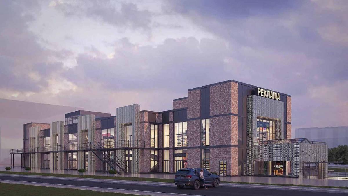 Двухэтажный торговый центр в Чертанове Южном украсят эркеры с подсветкой