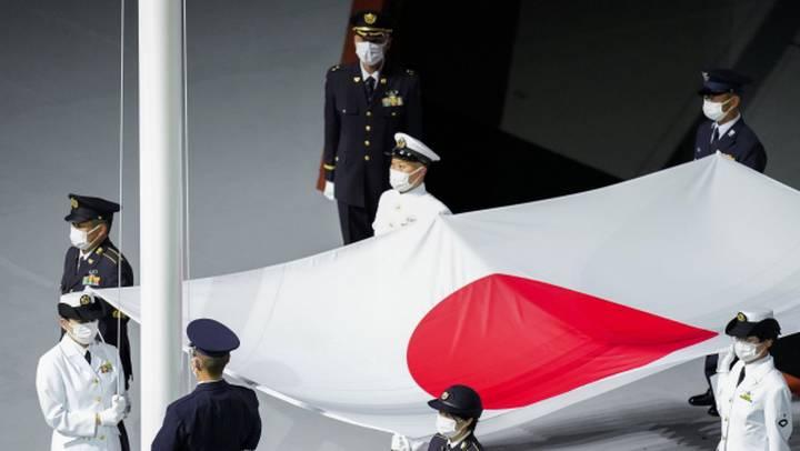 Поднятие флага Японии на церемонии открытия XXXII летних Олимпийских игр / Фото: РИА Новости