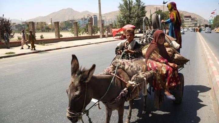 Местные жители едут на повозке по улице в Кабуле, Афганистан / Фото: РИА Новости